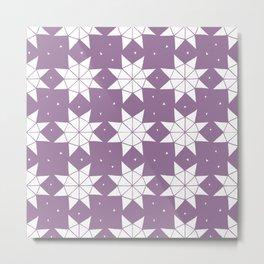 Lavender Stars Metal Print
