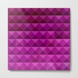 Byzantine Purple Abstract Low Polygon Background Metal Print