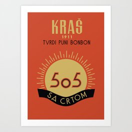 Glory to Yugoslavian design Art Print