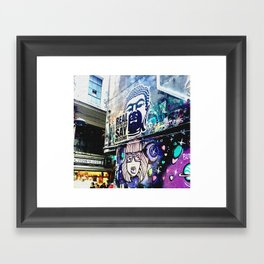 Real Australians Say Welcome Framed Art Print