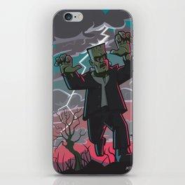 frankenstein creature in storm  iPhone Skin