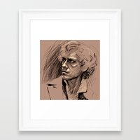 enjolras Framed Art Prints featuring Enjolras by callipygian flamingo