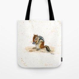"""Chippy"" Chipmunk - animal watercolor painting Tote Bag"