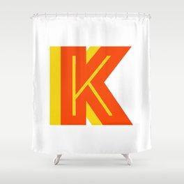 Letter K Shower Curtain