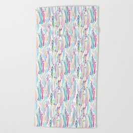 Rainbow Doodle & Dot Beach Towel