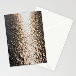 the sea at sunset Stationery Cards