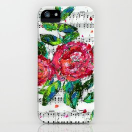 Melody - Floral - Piano notes iPhone Case