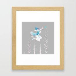 Little Blue Bird Framed Art Print