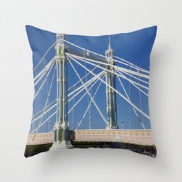Albert Bridge on the Thames in London (2) Throw Pillow