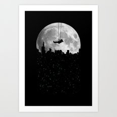 The Moon Swing Art Print