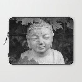 Buddha back and white Laptop Sleeve