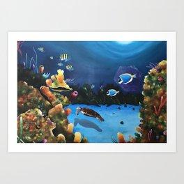 "Hector Bedoya, ""Life Underwater"". 2012. Art Print"