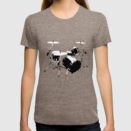 Drumkit Silhouette (frontview) T-shirt