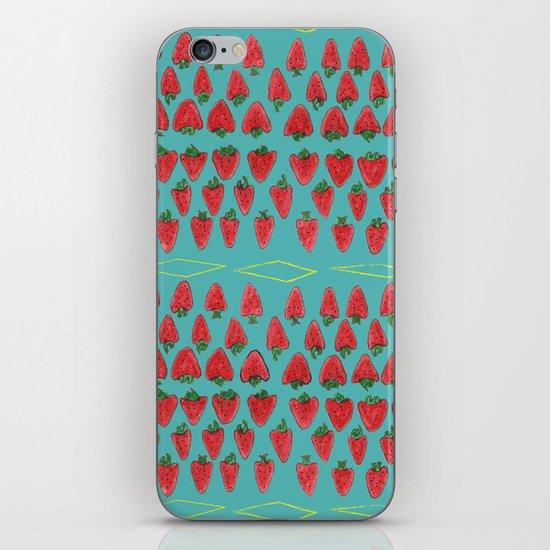 Field of Strawberries iPhone & iPod Skin