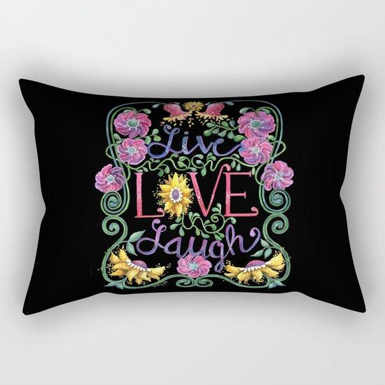 Live Love Laugh 2 Rectangular Pillow
