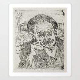Dr Gachet Art Print
