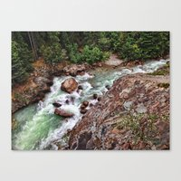 river song Canvas Prints featuring SONG OF THE RIVER by Mark Wheatley