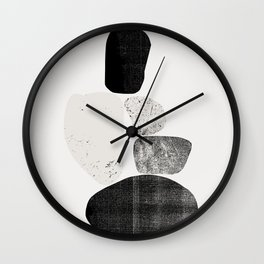 Pile of rocks Wall Clock