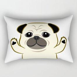 Hug Pug Rectangular Pillow
