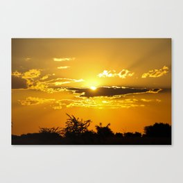 Beautiful Colours of the Sun Canvas Print