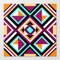 quilt Canvas Prints featuring Quilt Pattern by k_c_s