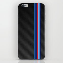 Carbon Racing Stripes iPhone Skin