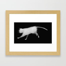 Wired cat Framed Art Print
