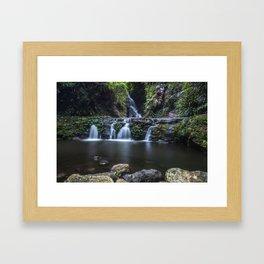 Elabana Falls in the Gold Coast Hinterlands Framed Art Print