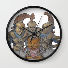 Female khadjiit and three ordinators Wall Clock