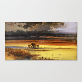 Sunset on the Jersey Flats Canvas Print