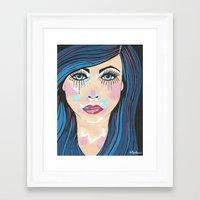 indigo Framed Art Prints featuring Indigo by Sartoris ART