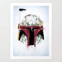 boba Art Prints featuring Boba by Purple Cactus