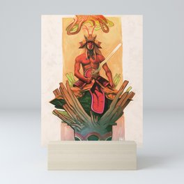 The stone egg & the birth of Sun Wukong Mini Art Print