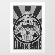 Dark Side Trooper  Art Print
