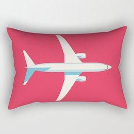 737 Passenger Jet Airliner Aircraft - Crimson Rectangular Pillow