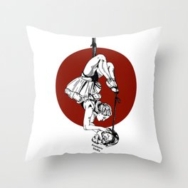 Anatomie Studio Red Cirlce Throw Pillow