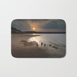 Sandcastles at sunset Bath Mat