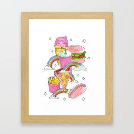 fast food heaven Framed Art Print