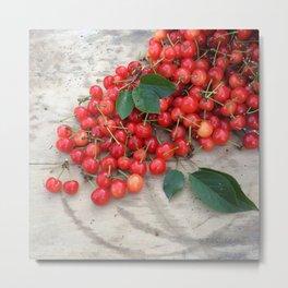 Spilled Cherries Metal Print