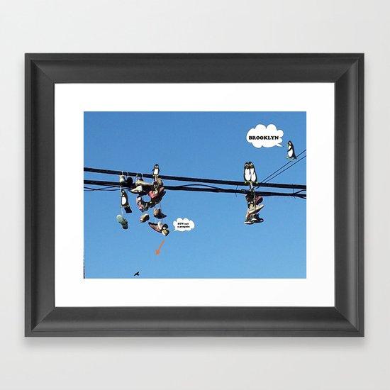 Brooklyn! Penguins taking over? Framed Art Print