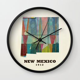 new mexico map modern Wall Clock