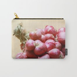 Bundle Shallot on Wooden Board Carry-All Pouch