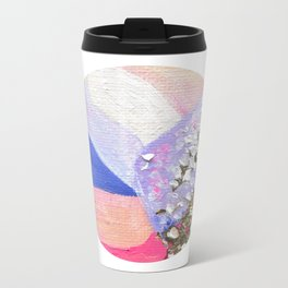 Abstraction World #1. Round version 2 Metal Travel Mug