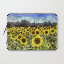 Sunflower Fields Of Dreams Art Laptop Sleeve