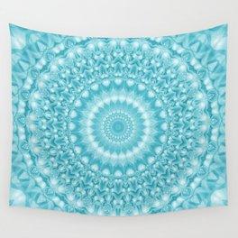 Caribbean Blue Mandala Wall Tapestry