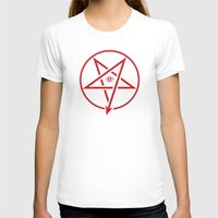 pentagram T-shirts featuring Adversary Pentagram by Divine Mania