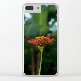 Lonely Tropical Daisy Clear iPhone Case