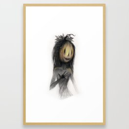 Jack o Lantern Witch Framed Art Print