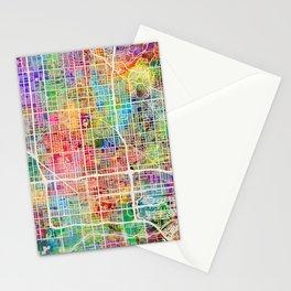 Phoenix Arizona City Map Stationery Cards