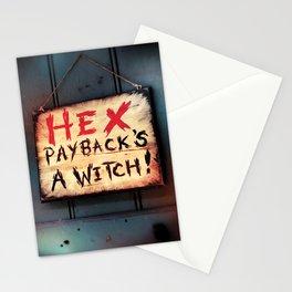 Payback's a witch! Stationery Cards